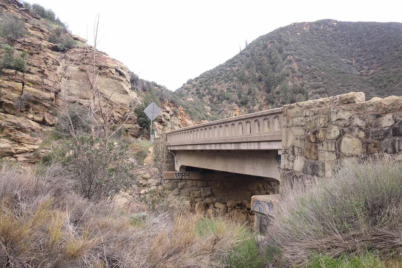 Back at the bridge by the Portrero John Trailhead