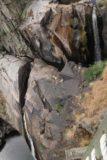 Pozo_de_los_Humos_034_06072015 - Awkward view down towards a pair of tiers from the Pozo de los Humos