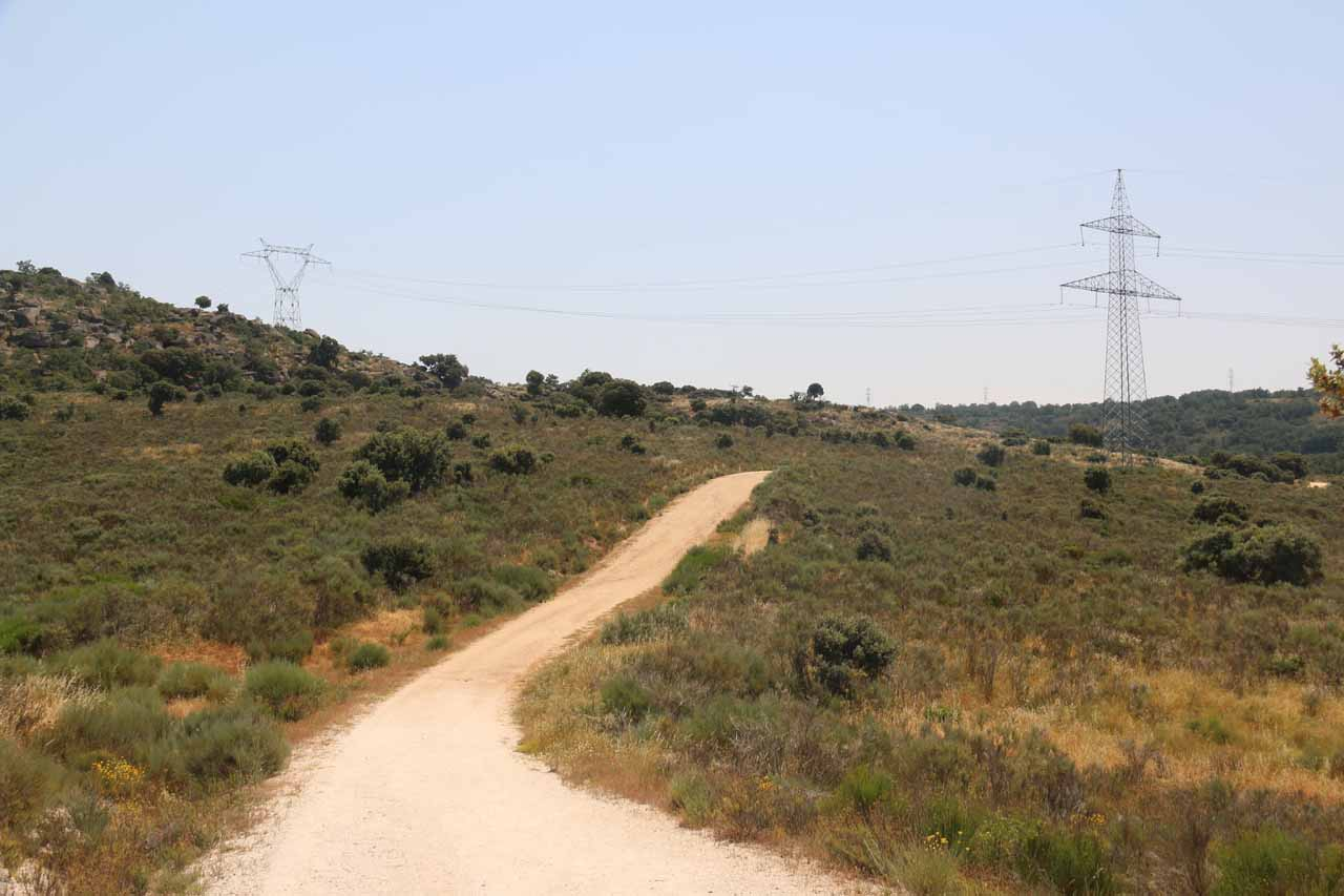 The mostly hot and exposed featureless hike on the Pereña de la Ribera side