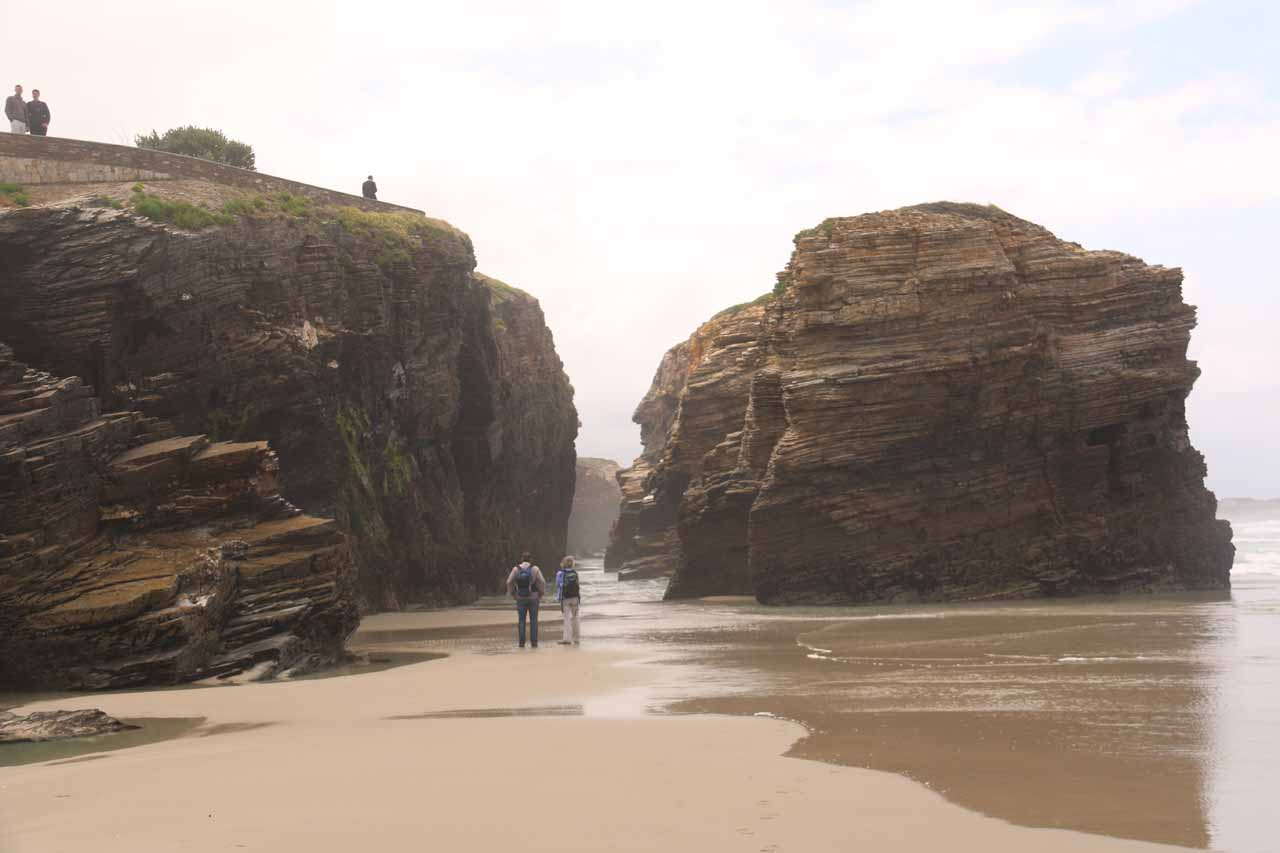 Down at the beach checking out some interesting rock stacks that might have been collapsed natural arches in the past