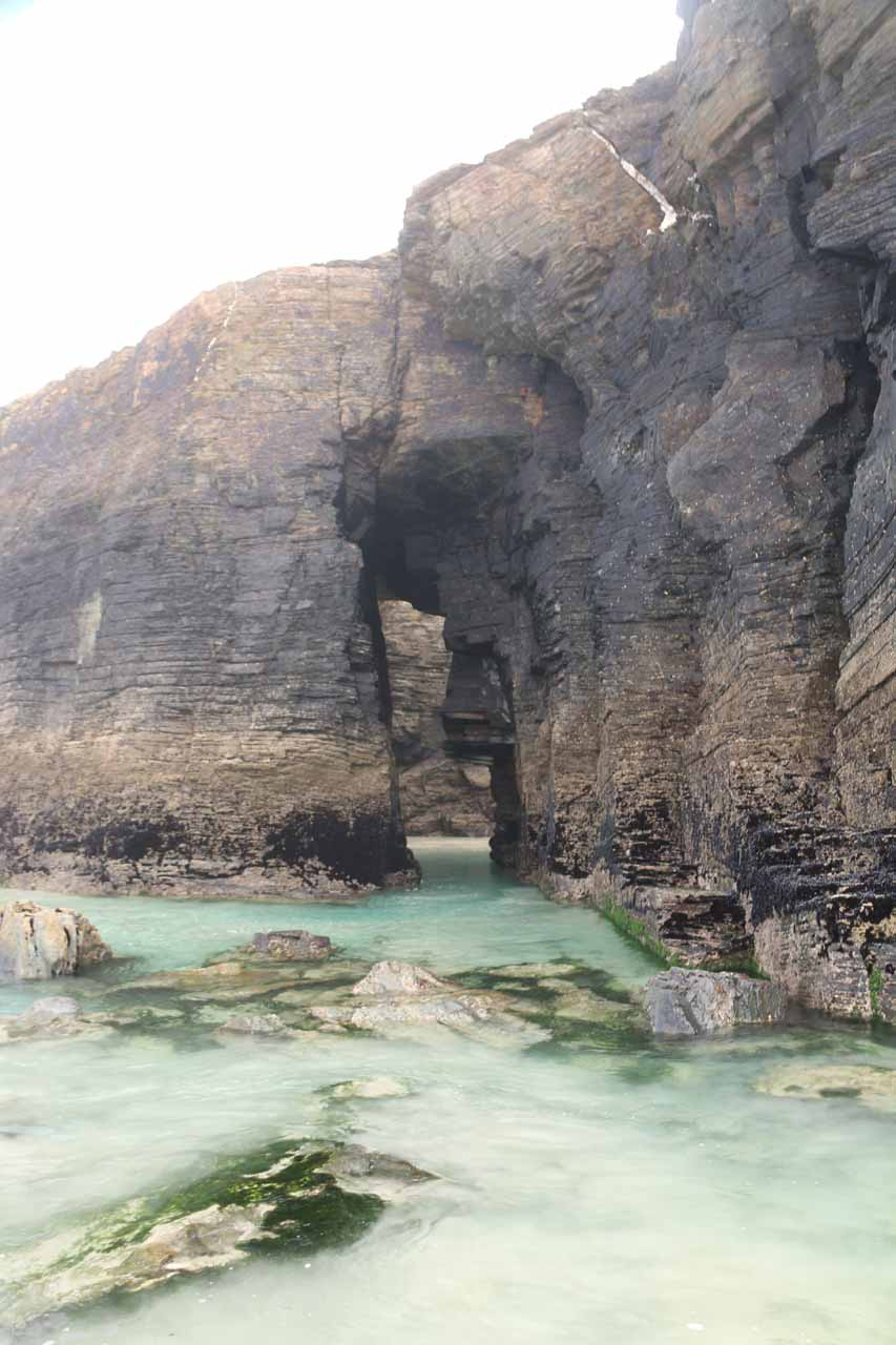 One of the hidden natural sea arches that I noticed on the way to the triple arches at Praia As Catedrais