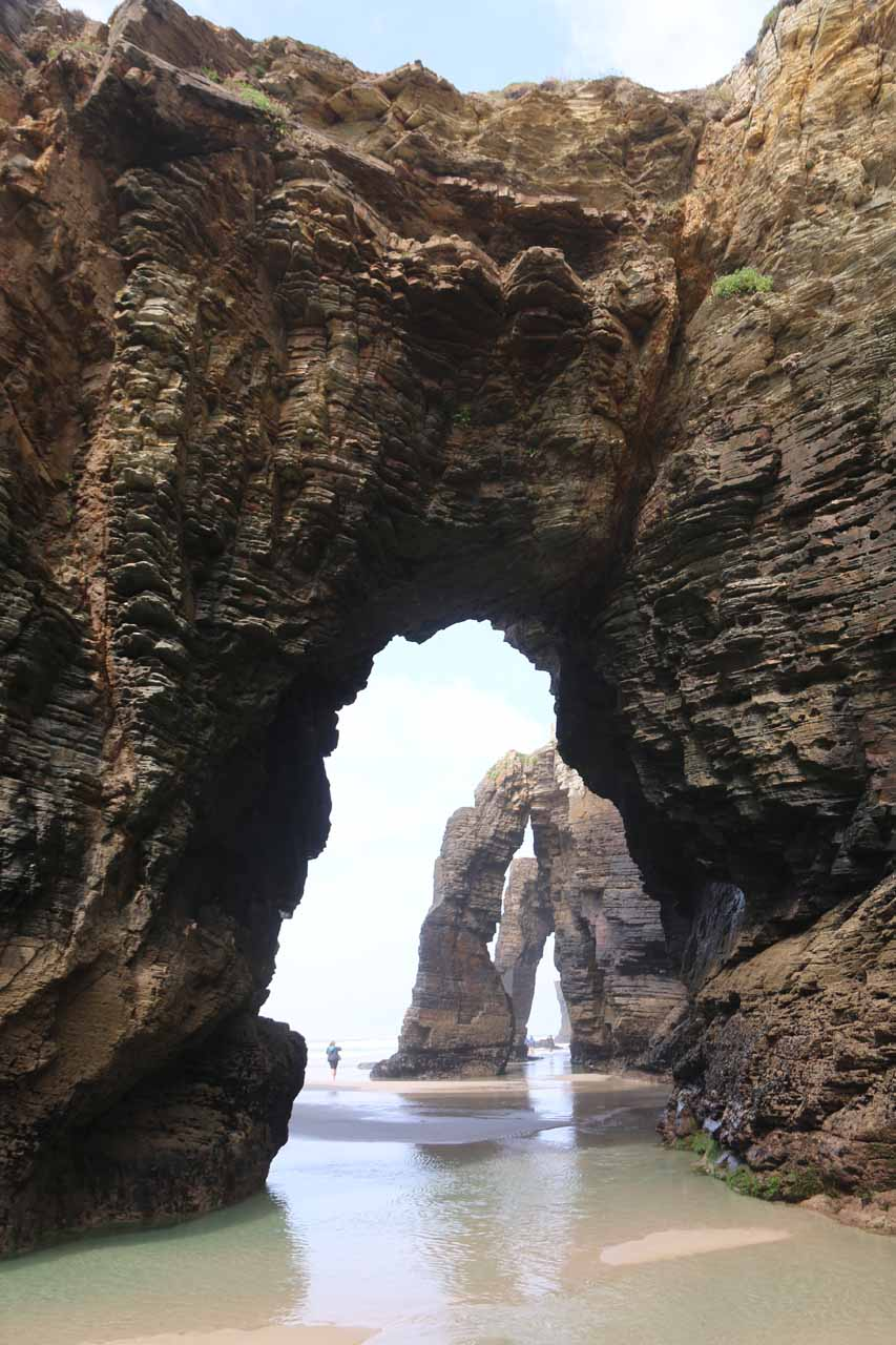 Finally seeing all of the triple arches at Praia As Catedrais in one go