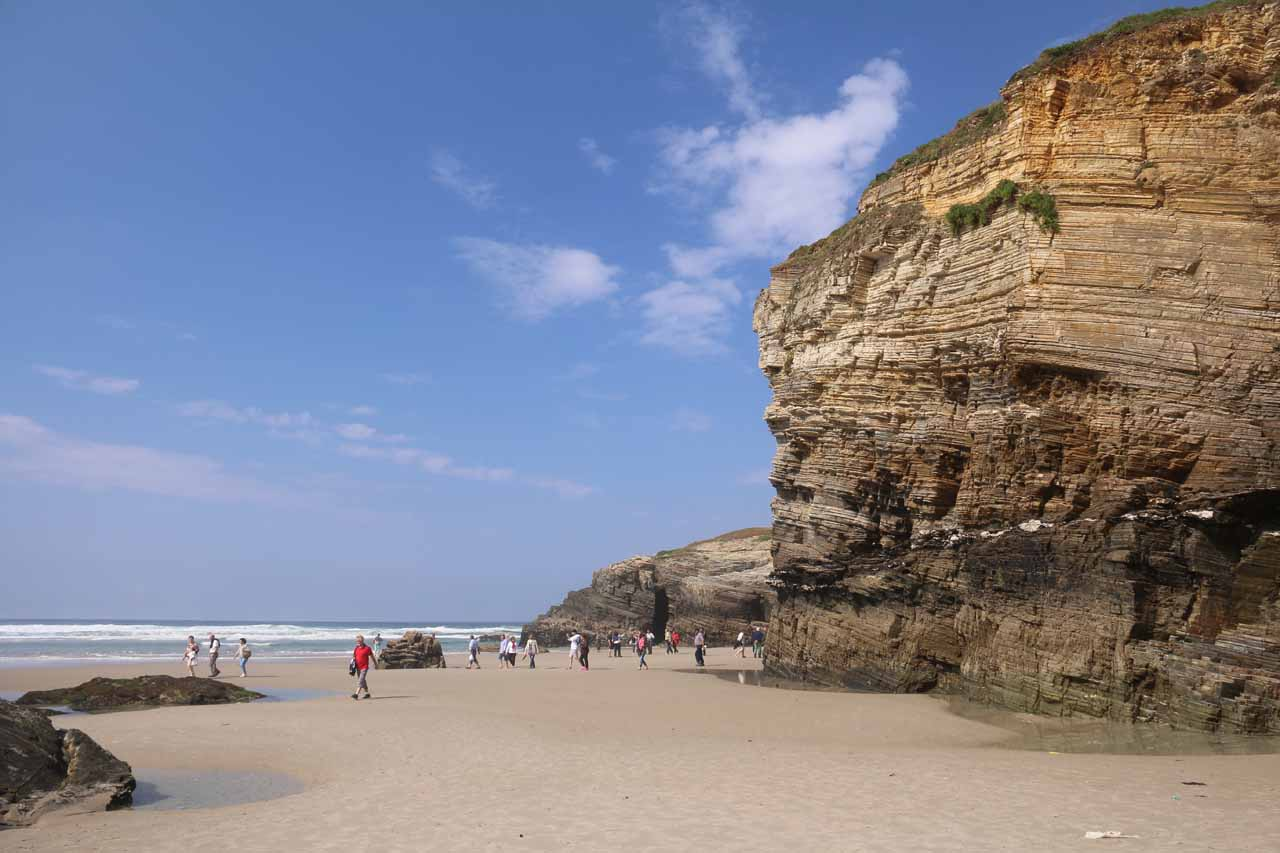The sun came out for good at Praia As Catedrais as I had finally rejoined Julie and Tahia