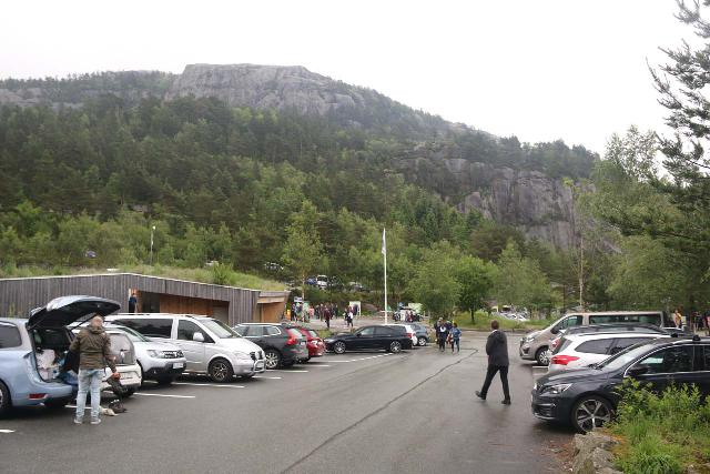 Preikestolen_005_06202019 - The big car park at Preikestolen was still busy at 5pm on the day of my visit; even on a day where it had rained earlier!