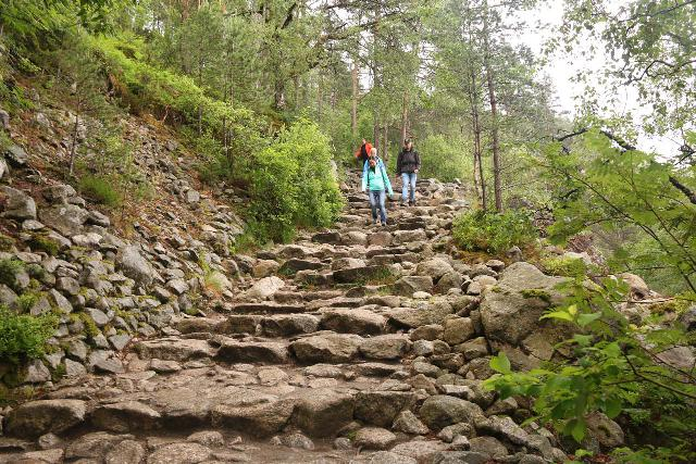Preikestolen_016_06202019 - On the initial climb of the Preikestolen Trail where many bone-jarring granite steps tested my joints
