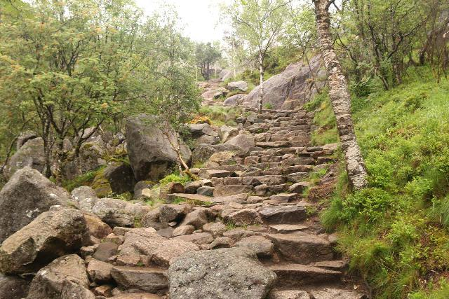 Preikestolen_029_06202019 - On the next mild climb of the Preikestolen Trail where many more bone-jarring granite steps tested my joints further