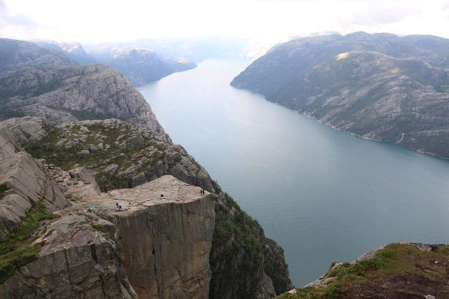 In addition to just getting onto Preikestolen, I found that scrambling around to get this contextual view was every bit worth the added effort