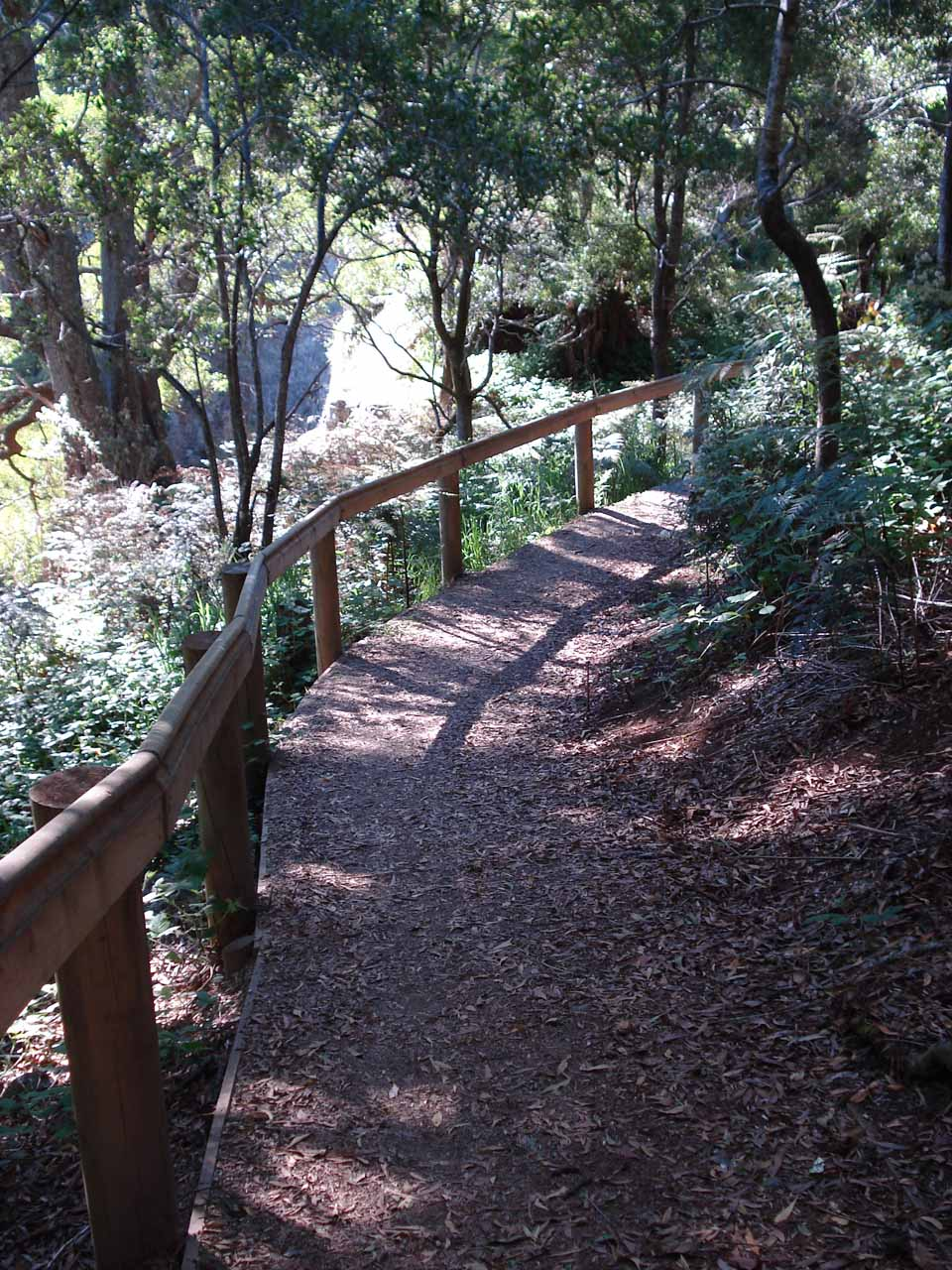 The walk to the overlook for Preston Falls