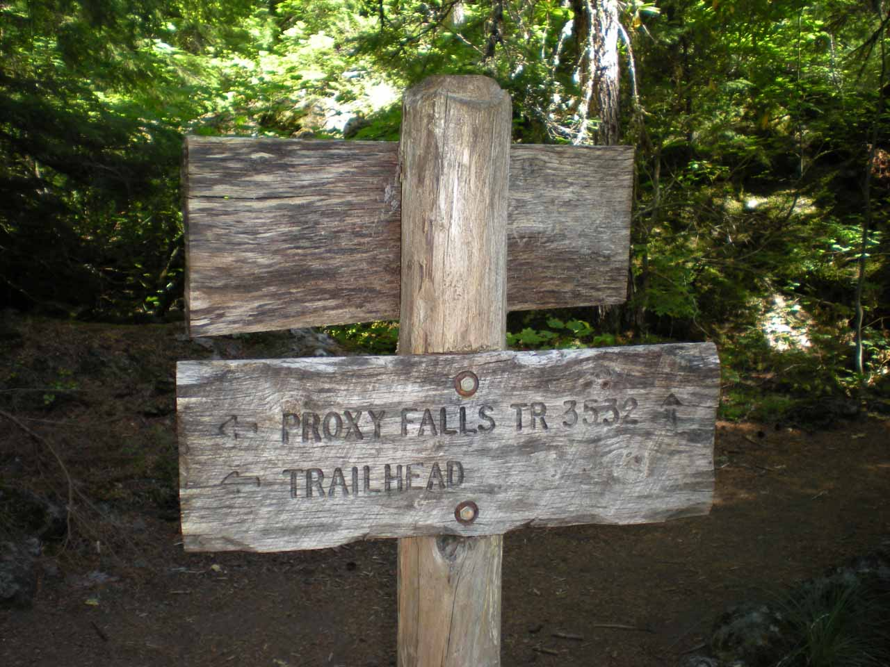 We got a little confused at this sign about which trail went where