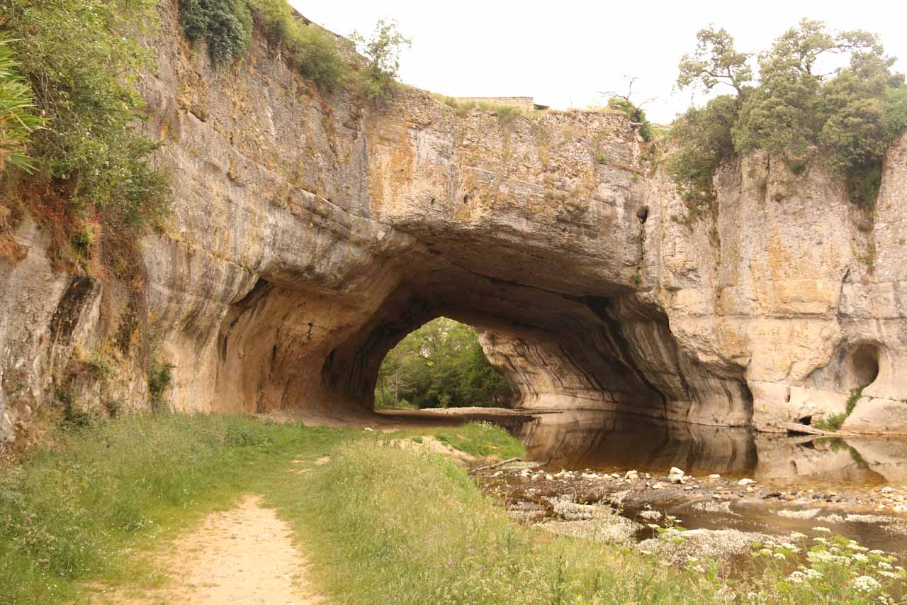 Looking towards the impressive natural bridge of Puentedey