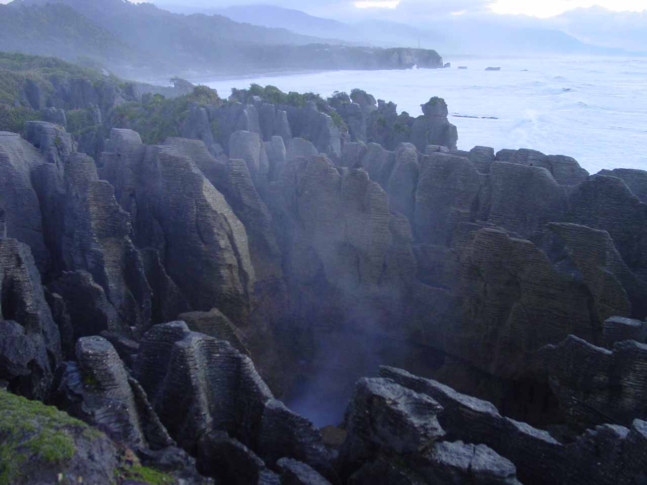About 61km north of the Kumara Junction on the SH6 was the Pancake Rocks at Punakaiki