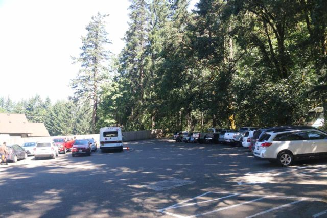 Punch_Bowl_Falls_17_006_08182017 - This was the overflow parking area if you couldn't score a parking spot right at the Eagle Creek Trailhead about another half-mile further from here