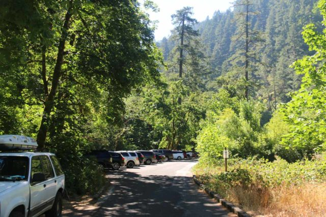 Punch_Bowl_Falls_17_011_08182017 - The parking spaces closest to the Eagle Creek Trailhead