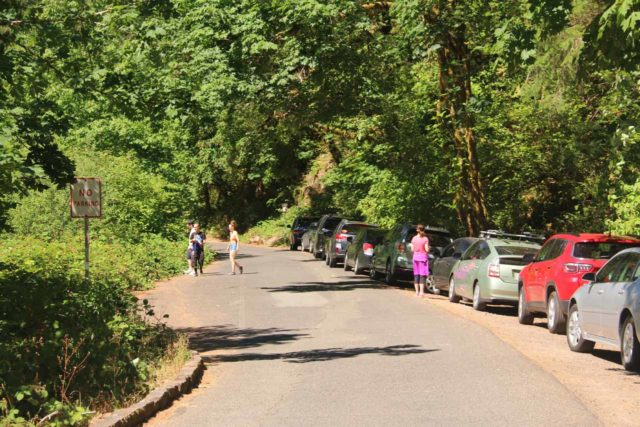 Punch_Bowl_Falls_17_167_08182017 - Parking was tight near the Eagle Creek Trailhead as people tried real hard to squeeze in to save themselves an extra half-mile (in each direction) of additional hiking