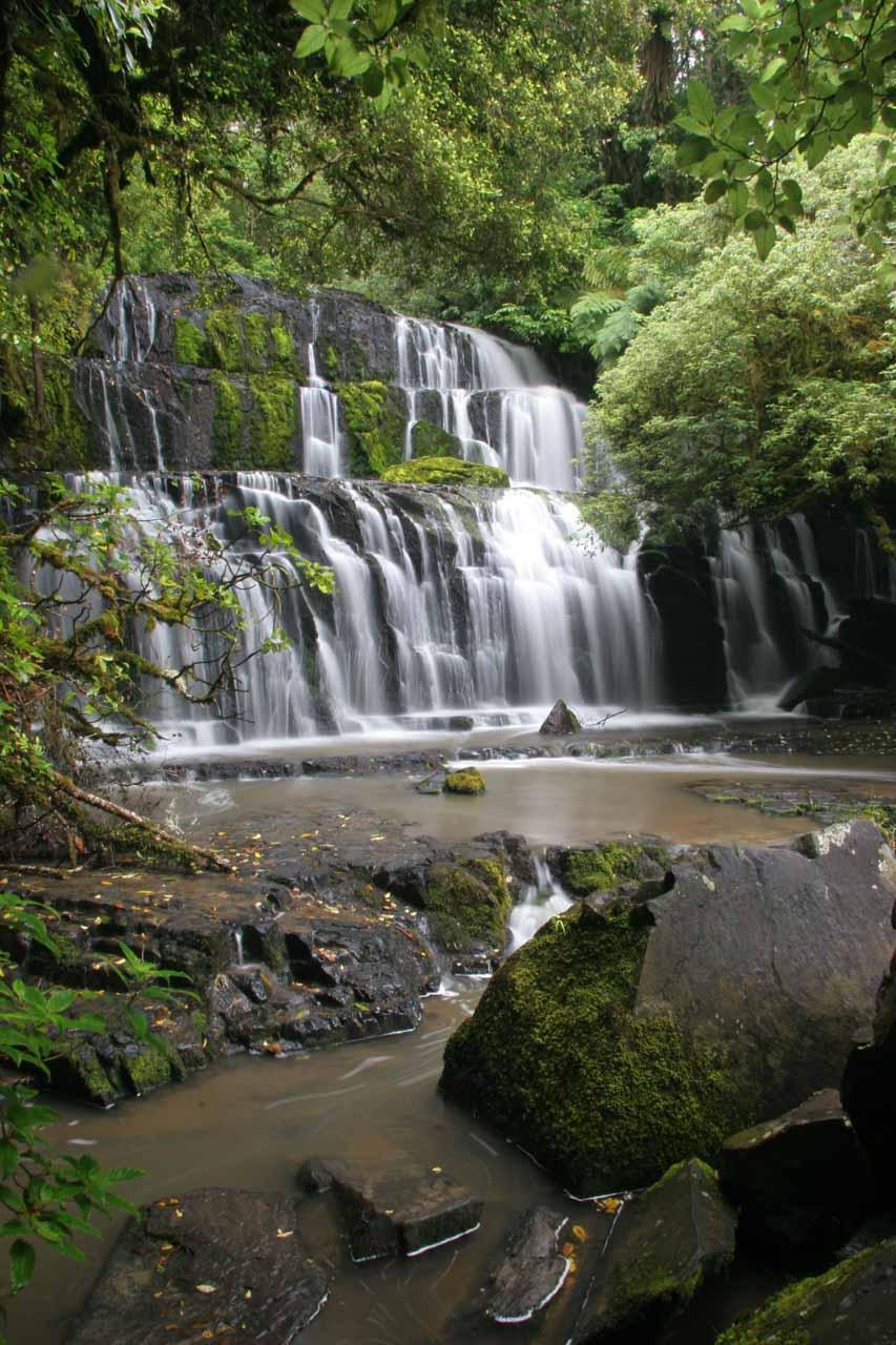 A more angled look at Purakaunui Falls in December 2009