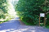Quartz_Creek_Trailhead_001_06242021 - Context of the Quartz Creek Trailhead and the paved forest service road at the Lewis River Recreation Area