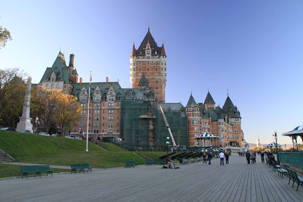 Further along the Governor's Walk looking back at the Chateau Frontenac