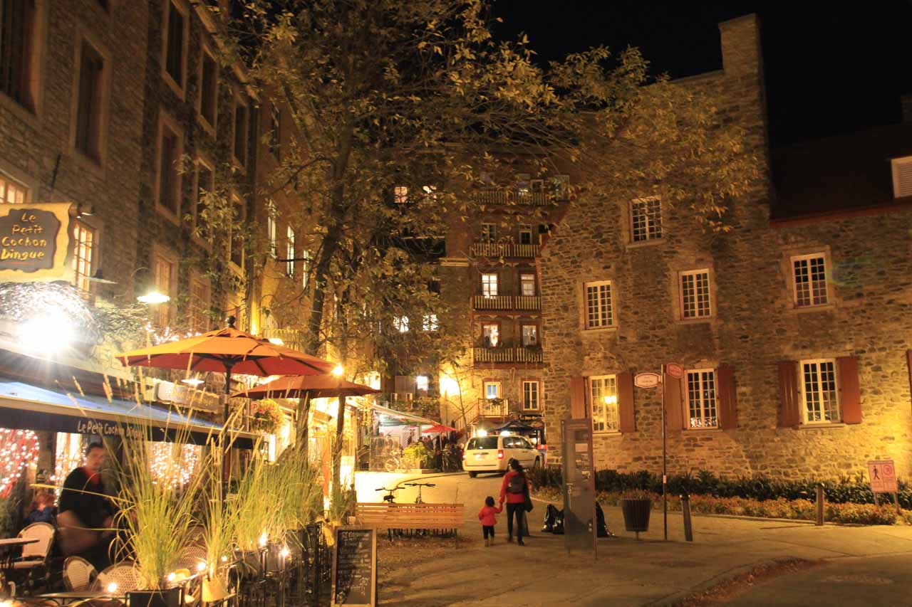 The charming Lower Old City of Quebec