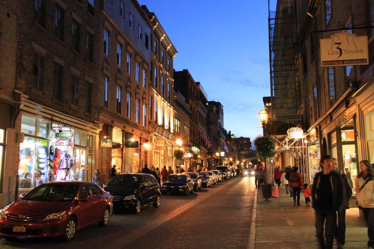 Walking in Rue St-Jean