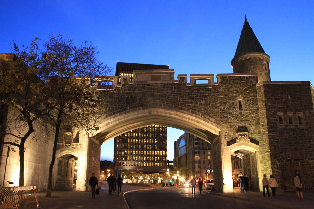 One of the gates to the Old Quebec City