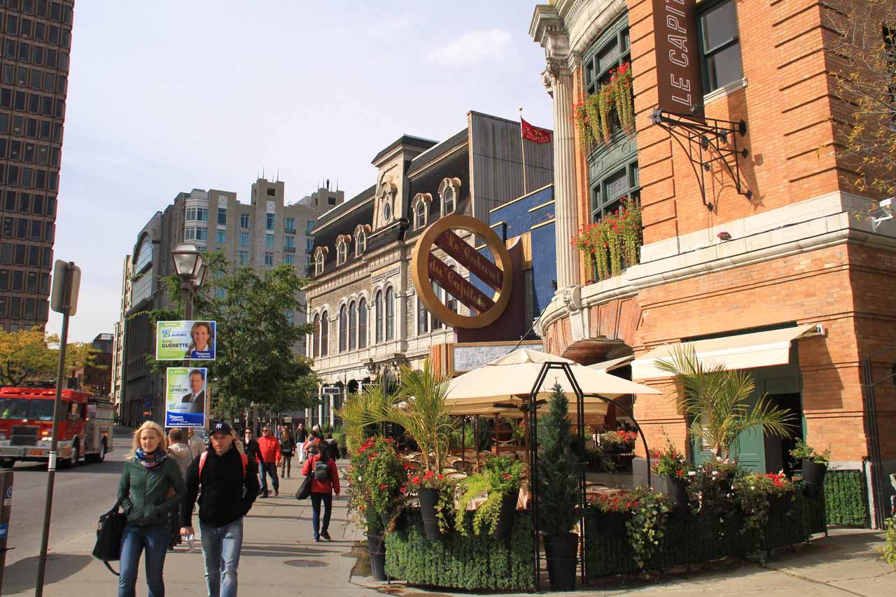 Walking along Rue St-Jean as we crossed outside the city walls