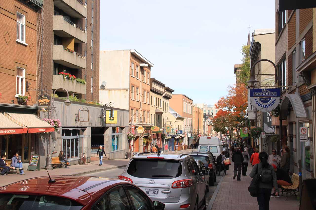 More walking along Rue St-Jean