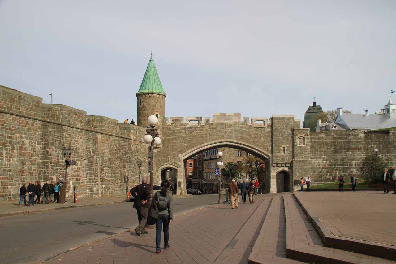 Headed back through the gate and onto the city walls