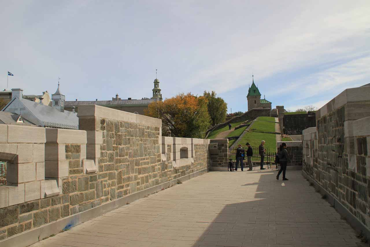 On the city walls of Old Quebec