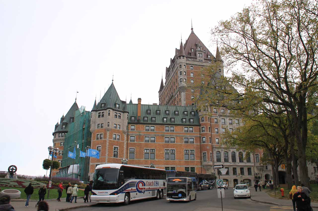 Back at the front of Chateau Frontenac