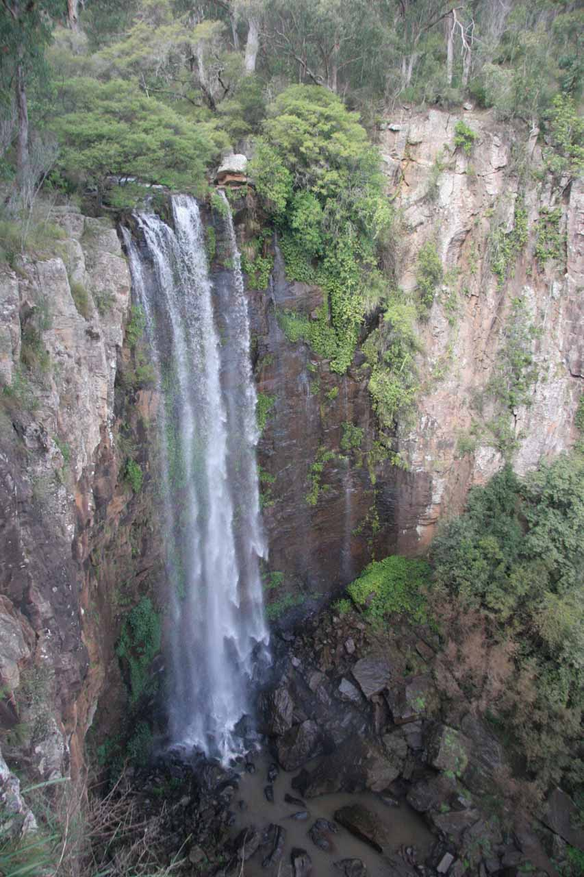 This was a more conventional look at Queen Mary Falls from the lookout near its top