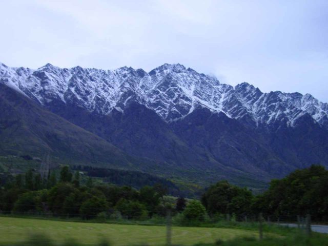 Queenstown_015_11242004 - When driving around Queenstown, it's hard not to notice the mountain chain known as the Remarkables, which I'd imagine could be nice photo subjects backing Lake Wakatipu