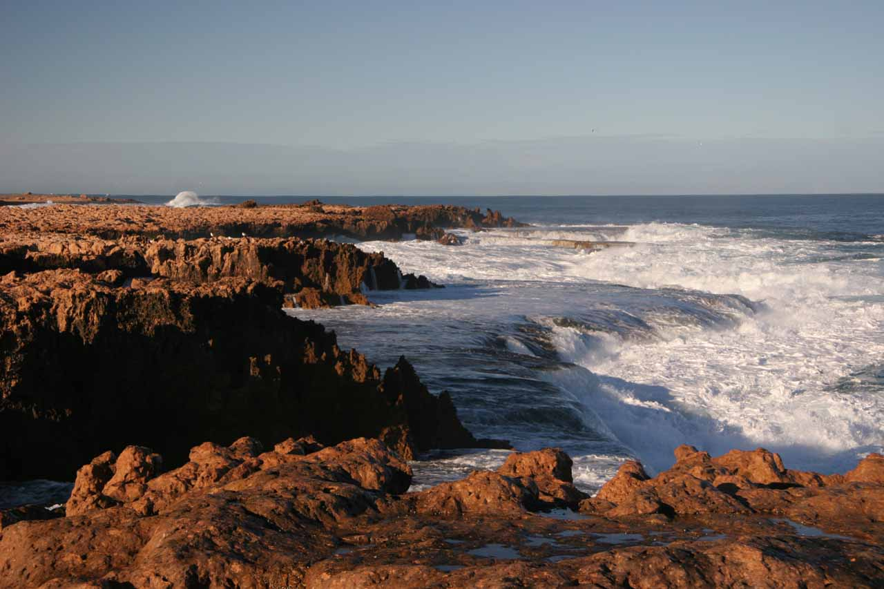 The turbulent seaside at Quobba Blowhole