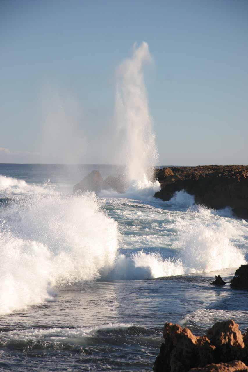 Quobba Blowhole and crashing waves