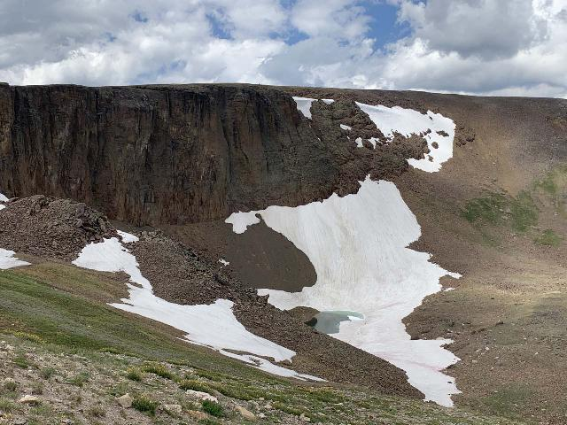 RMNP_034_iPhone_07272020 - The Trail Ridge Road in Rocky Mountain National Park brought us across various climates and terrains, including the tundra at the highest elevations where snow still remained even deep into the Summer like at Iceberg Lake shown here