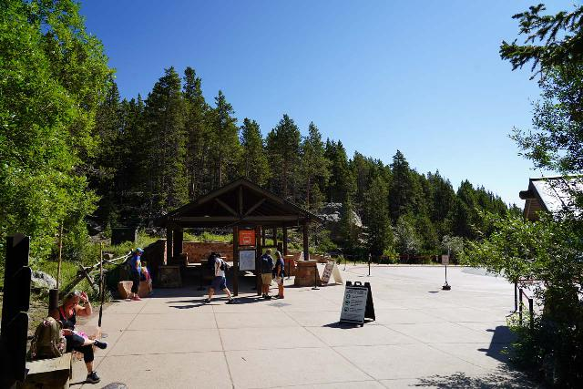 RMNP_110_07272020 - The Bear Lake Shuttle Stop, which was the end point of my short hike encompassing Alberta Falls and Bear Lake
