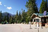 RMNP_113_07272020 - With the park and ride restrictions at the Bear Lake Shuttle Stop, it was actually rather quiet until a bus would show up and drop off passengers, then it got quiet again after people started walking