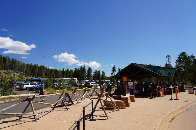 RMNP_157_07272020 - Just to give you an idea of how long the lines can get, the entire shelter was packed with people.  Yes, social distancing was a challenge here