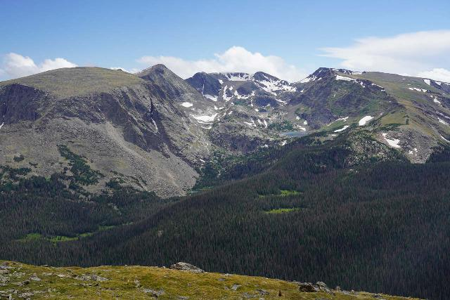 RMNP_281_07282020 - The Continental Divide in Rocky Mountain National Park brought us into the tundra above the tree line and into the forbidding skyscraping terrain still clinging onto what glaciers that still remain in the face of Global Warming