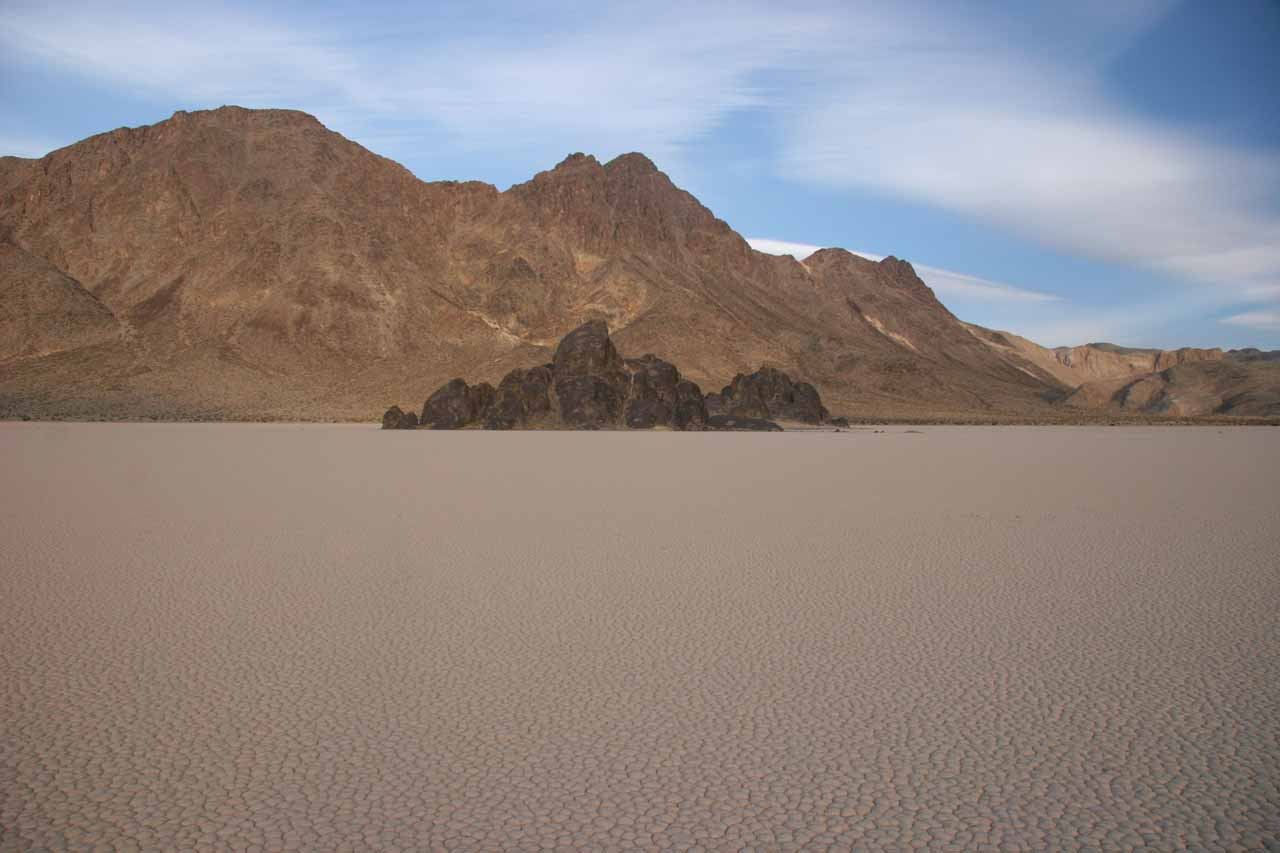 Within the Racetrack Playa looking towards the Grandstand