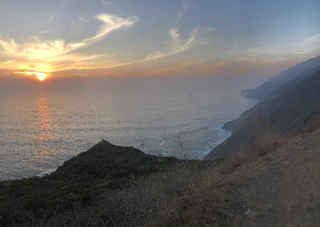 Ragged_Point_009_jx_11162018 - Big Sur is a wonderful place to catch the sunset amidst the coastline's rugged beauty. We took this shot as we were returning to Ragged Point from Salmon Creek Falls
