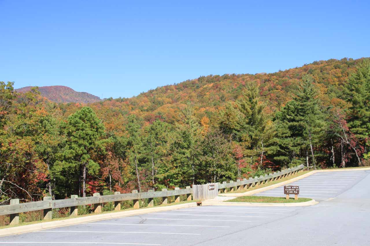 The car park at the Grassy Ridge Trailhead