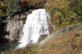 Rainbow_Falls_021_20121016 - Rainbows got brighter or fainter depending on how much mist was thrown from the Rainbow Falls as seen from the fenced lookout along the trail