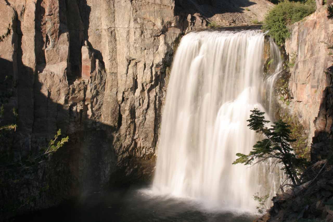 Rainbow Falls near Mammoth Lakes