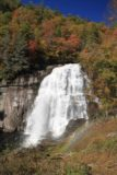 Rainbow_Falls_022_20121016 - Portrait view of Fall colors backing the Rainbow Falls and namesake rainbow