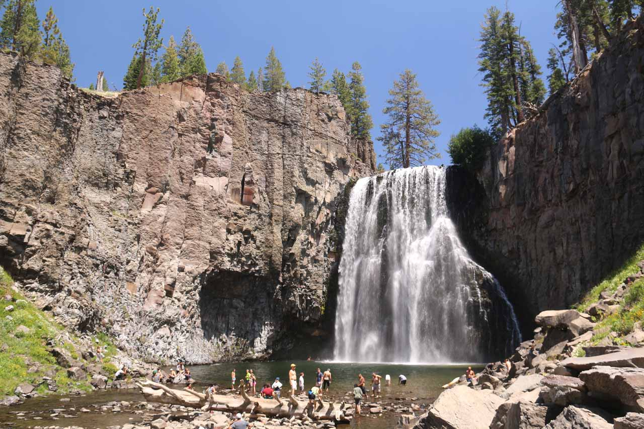 View of Rainbow Falls from its base
