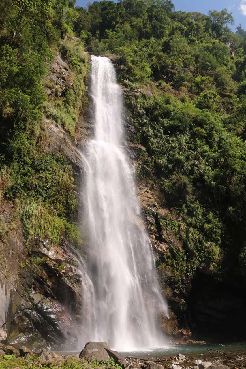 The Caihong Waterfall or Rainbow Waterfall
