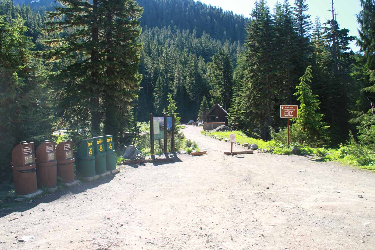 Finally at the end of Mowich Lake Rd