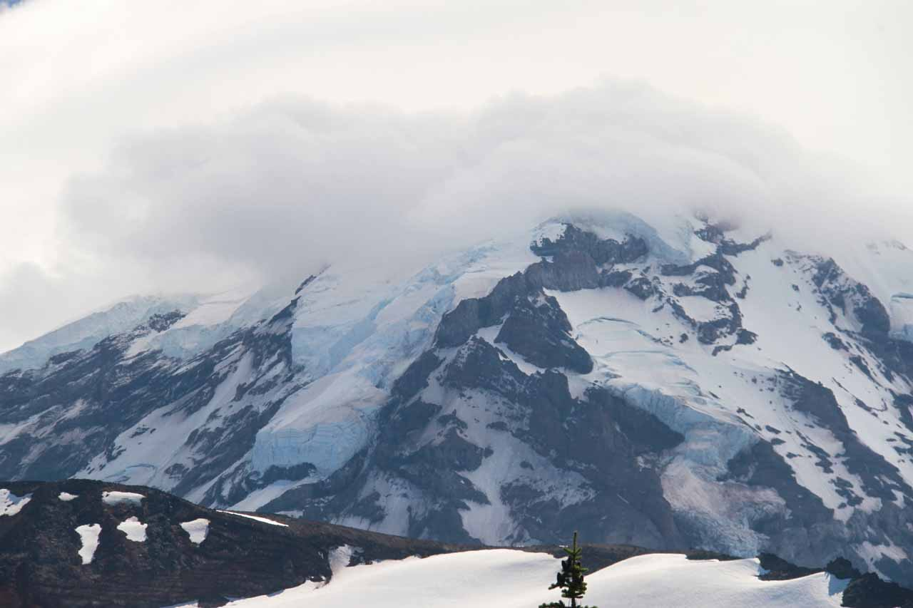 Some glaciers on the slopes of Mt Rainier