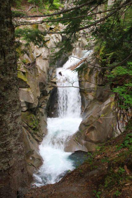 Rainier_217_08252011 - One of the intermediate waterfalls on Van Trump Creek, which might be called the Lower Van Trump Falls