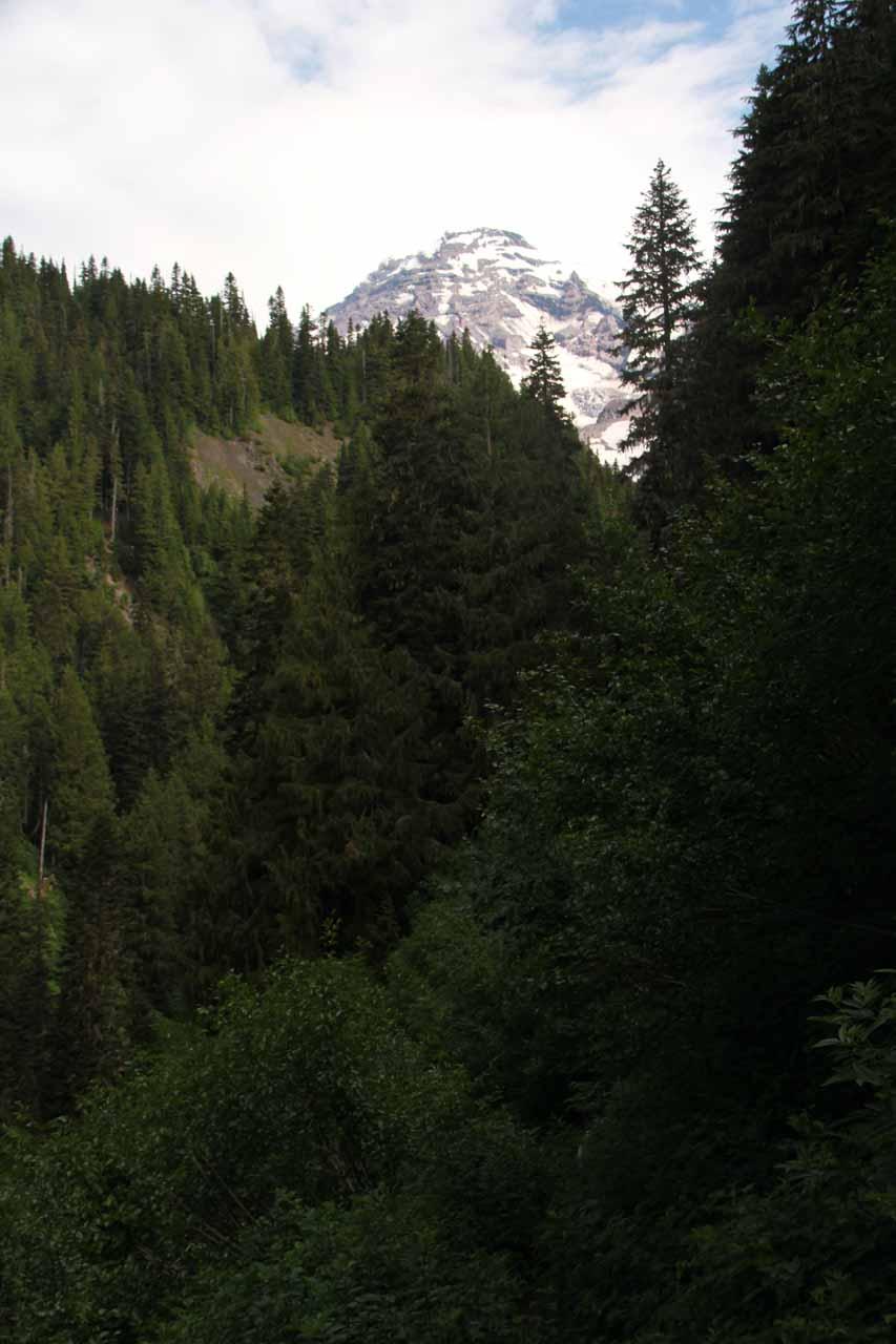 Mt Rainier starting to show itself